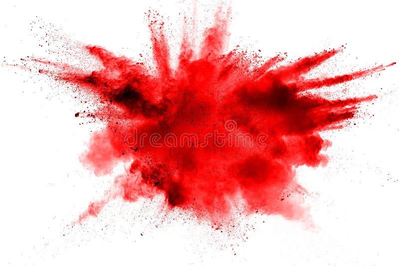explosão do pó da cor vermelha ilustração royalty free