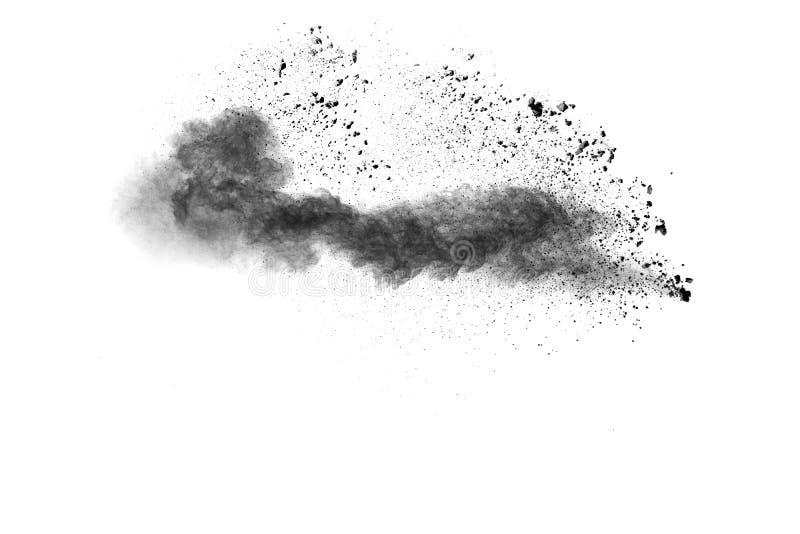 Explosão do pó preto foto de stock royalty free