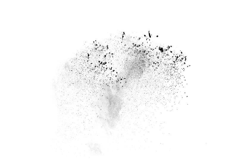 Explosão do pó preto imagem de stock
