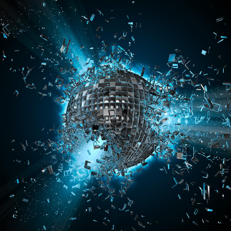 Explosão do planeta do disco ilustração royalty free