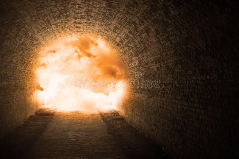 Explosão do túnel foto de stock