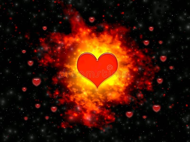 Explosão dos sentimentos no dia dos Valentim ilustração do vetor