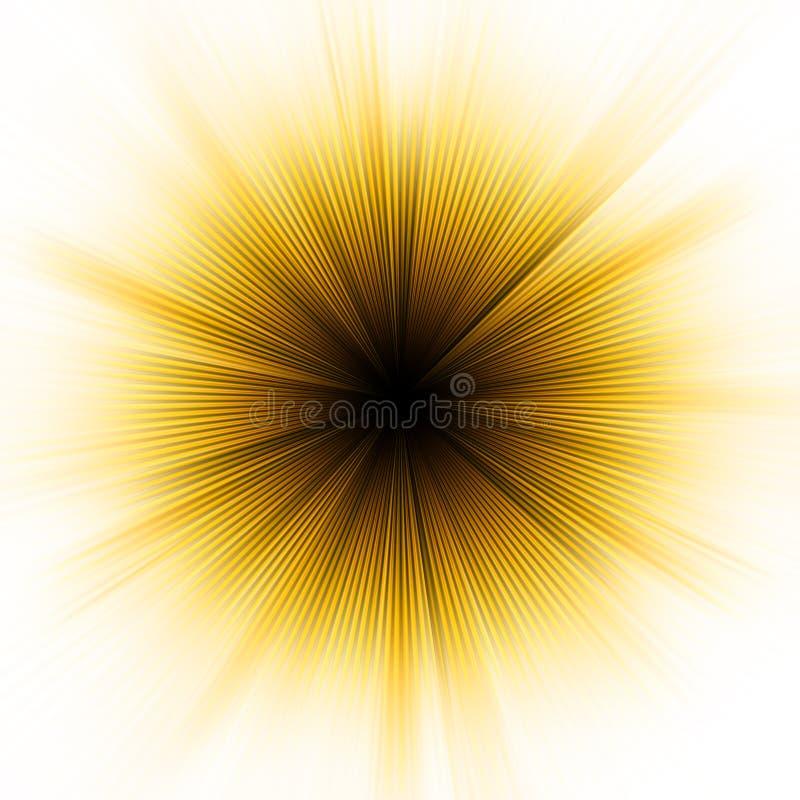 Explosão dourada da luz. EPS 8 ilustração royalty free