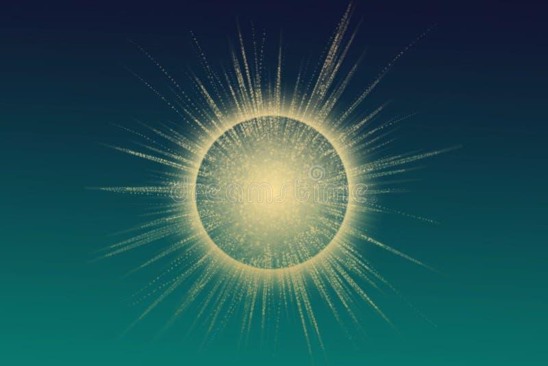 Explosão escura da estrela - fundo abstrato ilustração do vetor