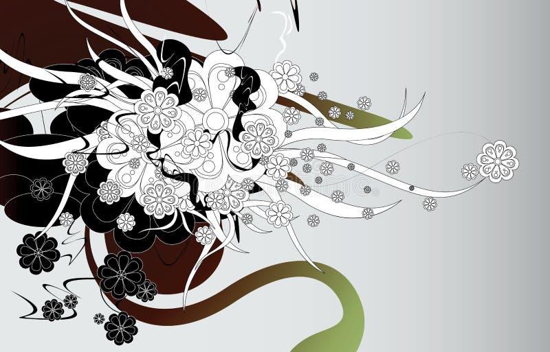 Explosão floral ilustração do vetor