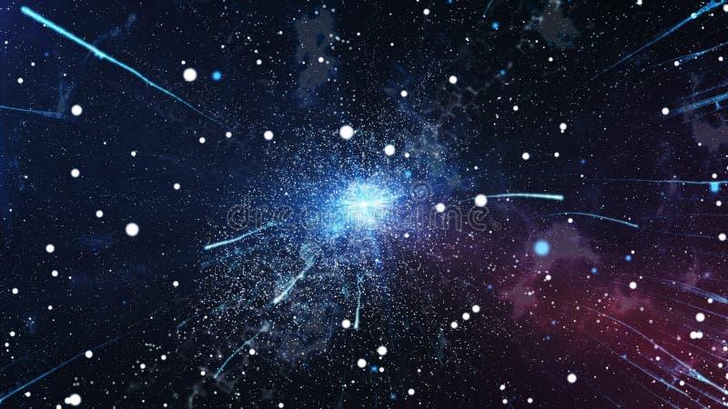A explosão inicial do universo Big Bang ilustração do vetor