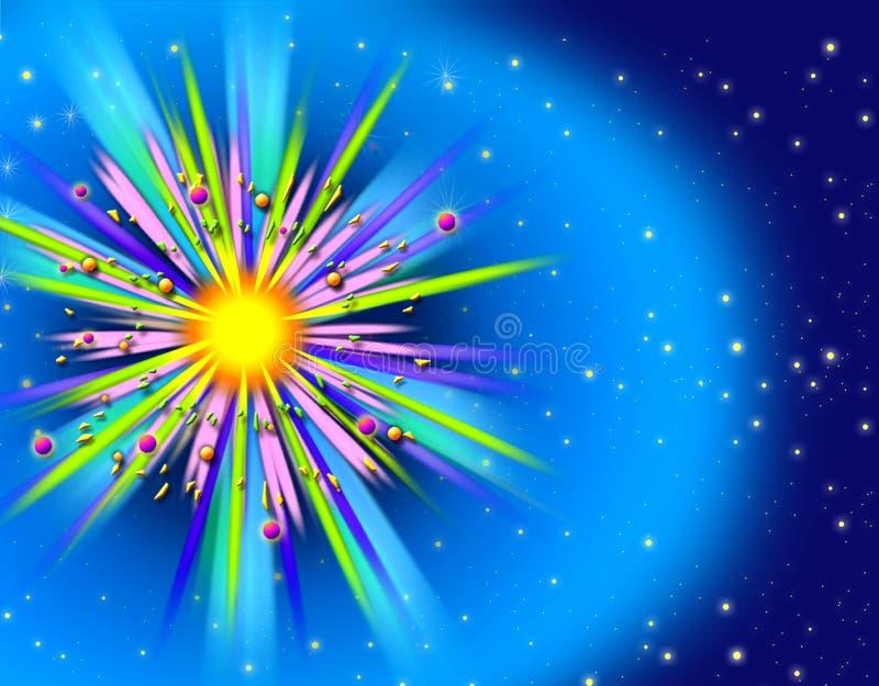Explosão interplanetária ilustração do vetor