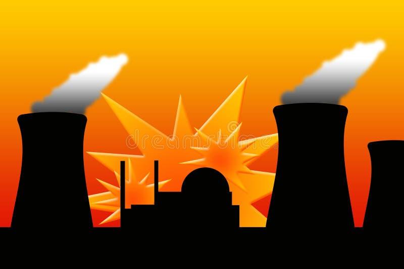 Explosão nuclear ilustração royalty free