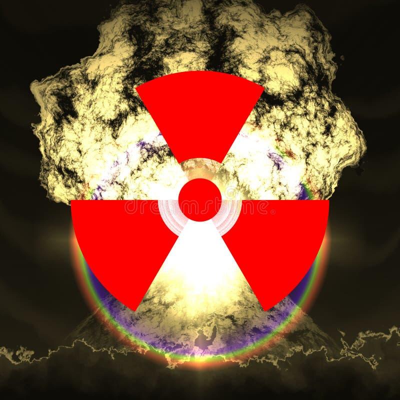 Explosão nuclear enorme ilustração do vetor