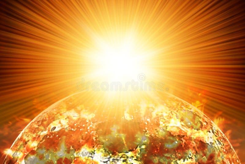 Explosão nuclear no planeta fotos de stock