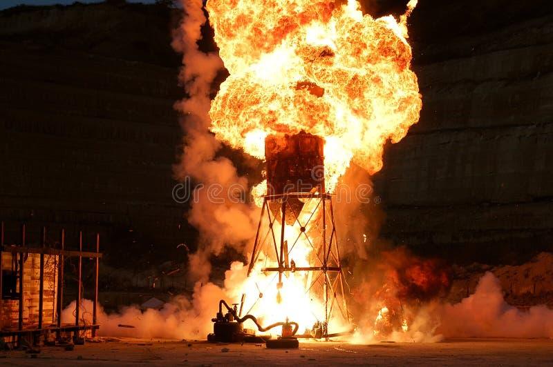 Explosão poderosa fotos de stock royalty free