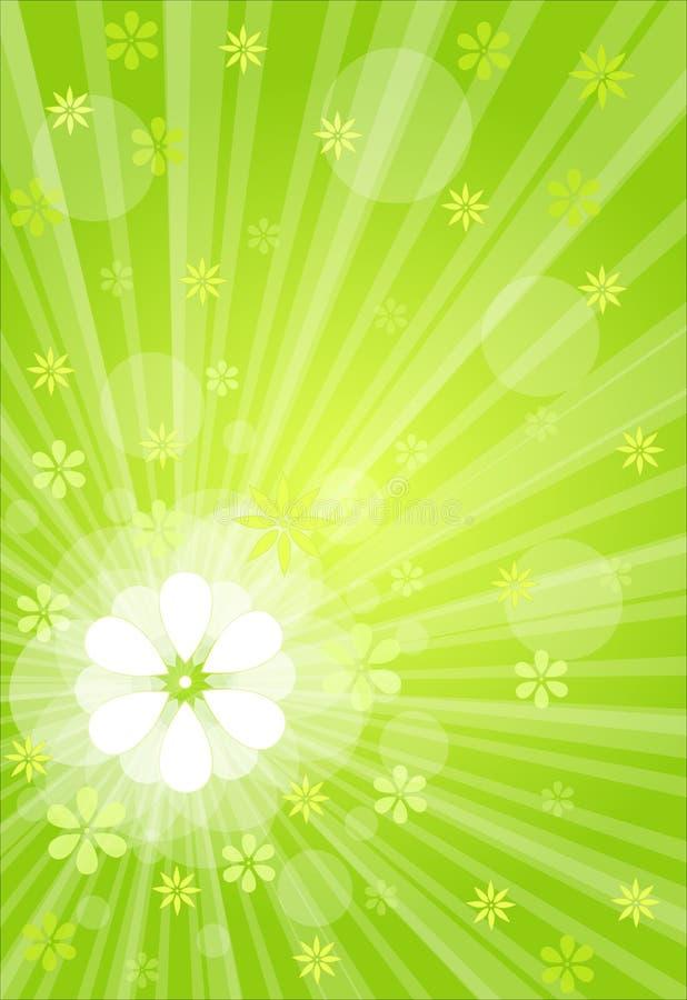 Explosão verde ilustração do vetor