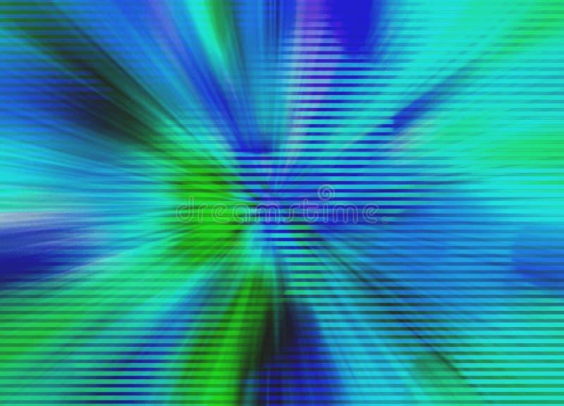 Explosão verde e azul do fundo abstrato ilustração stock