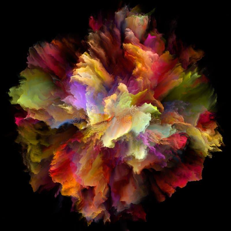 Explosão virtual do respingo da cor ilustração do vetor