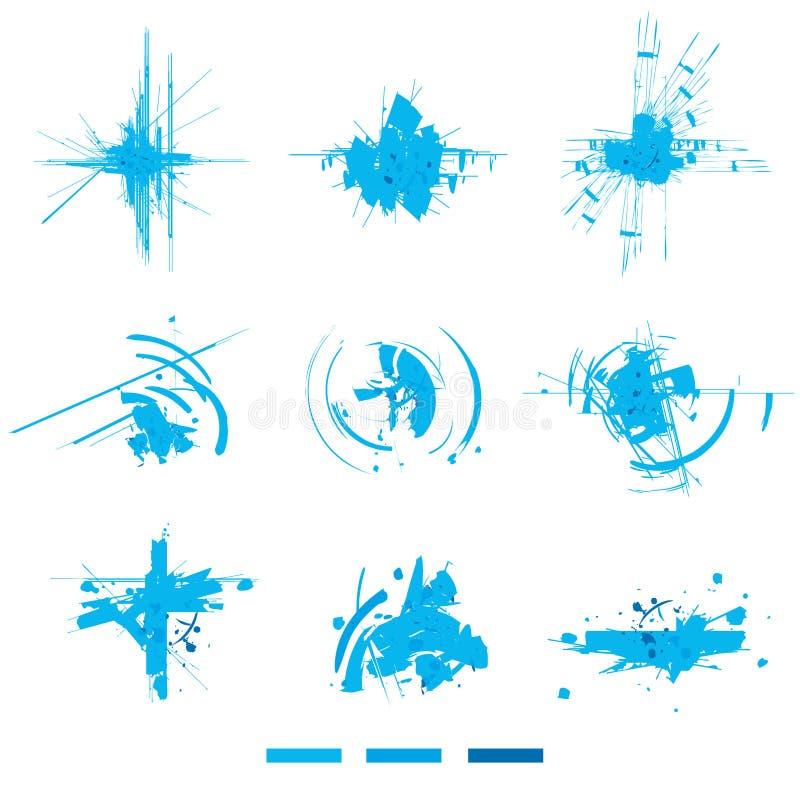Explosões eletrônicas. Elementos do projeto. ilustração do vetor