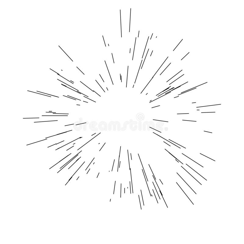 Explos?o de Sun, luz do sol da explos?o da estrela ilustração stock