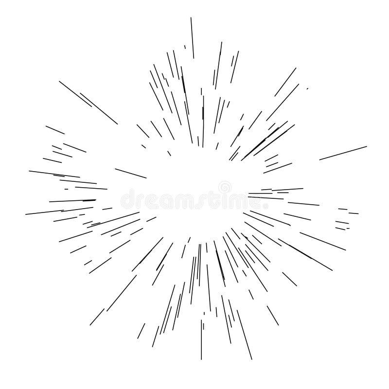 Explos?o de Sun, luz do sol da explos?o da estrela ilustração do vetor