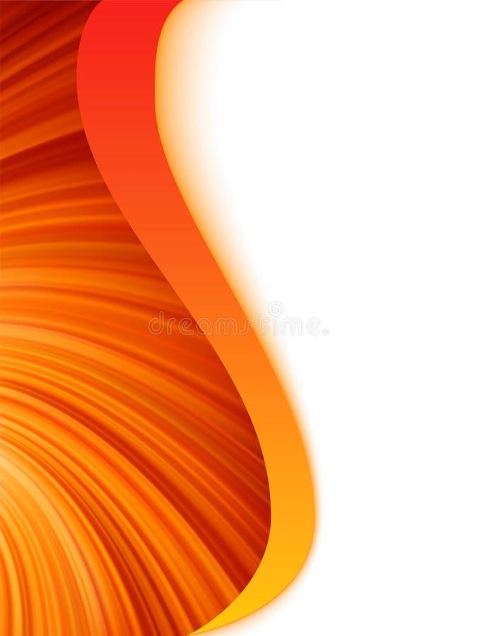 Explosión abstracta anaranjada del rojo y blanca de la onda. EPS 8 ilustración del vector