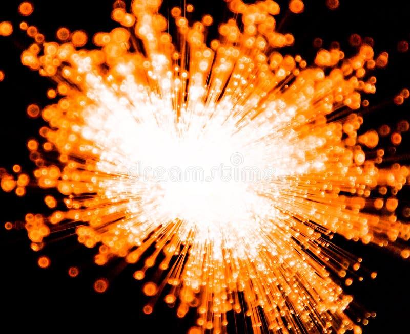 Explosión anaranjada imagen de archivo libre de regalías