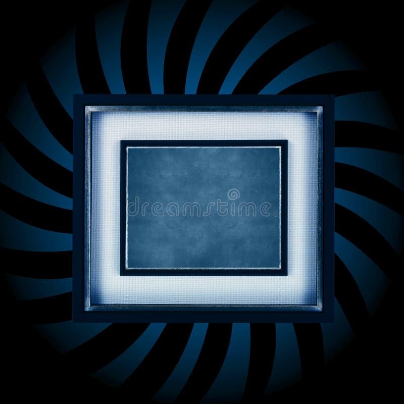 Explosión azul del marco stock de ilustración