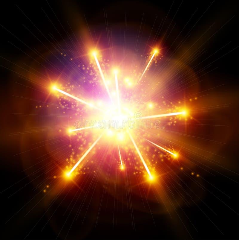 Explosión/Big Bang ilustración del vector