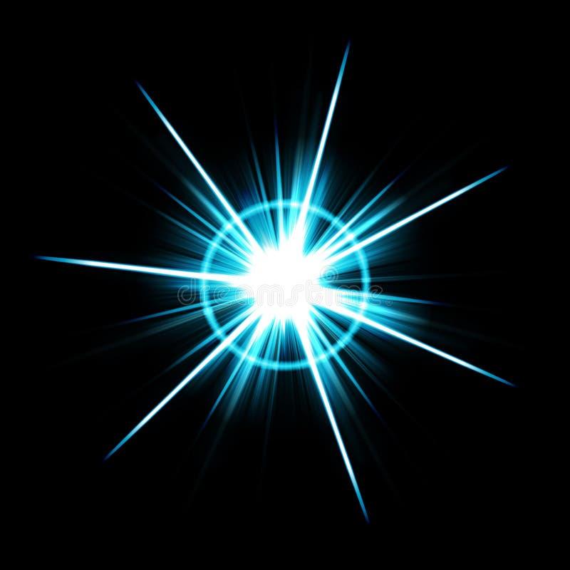 Explosión brillante de la flama de la lente ilustración del vector