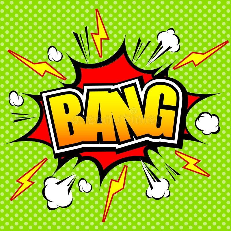 ¡Explosión! Burbuja cómica del discurso, historieta ilustración del vector