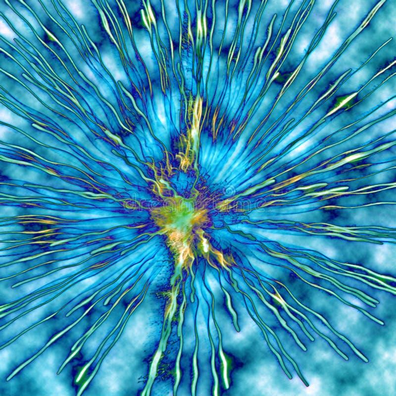 Explosión coloreada ilustración del vector