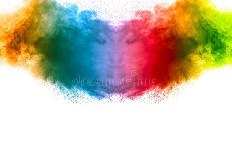 Explosión coloreada multi abstracta del polvo imágenes de archivo libres de regalías