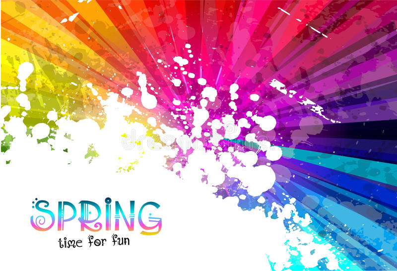 Explosión colorida de la primavera del fondo de los colores para sus aviadores del partido imágenes de archivo libres de regalías
