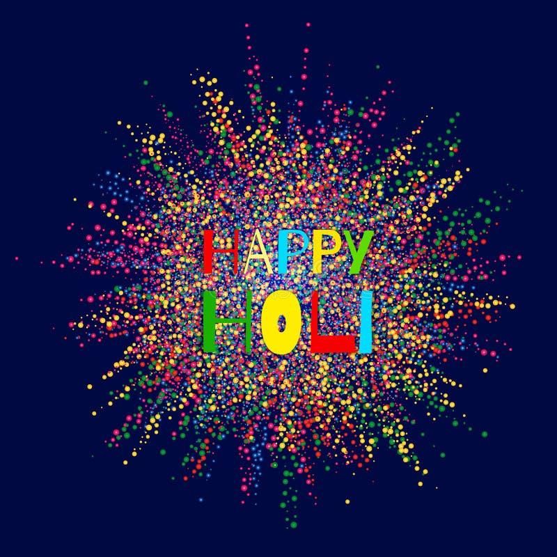 Explosión colorida para Holi feliz Ejemplo del fondo feliz colorido abstracto de Holi Festival indio de colores ilustración del vector