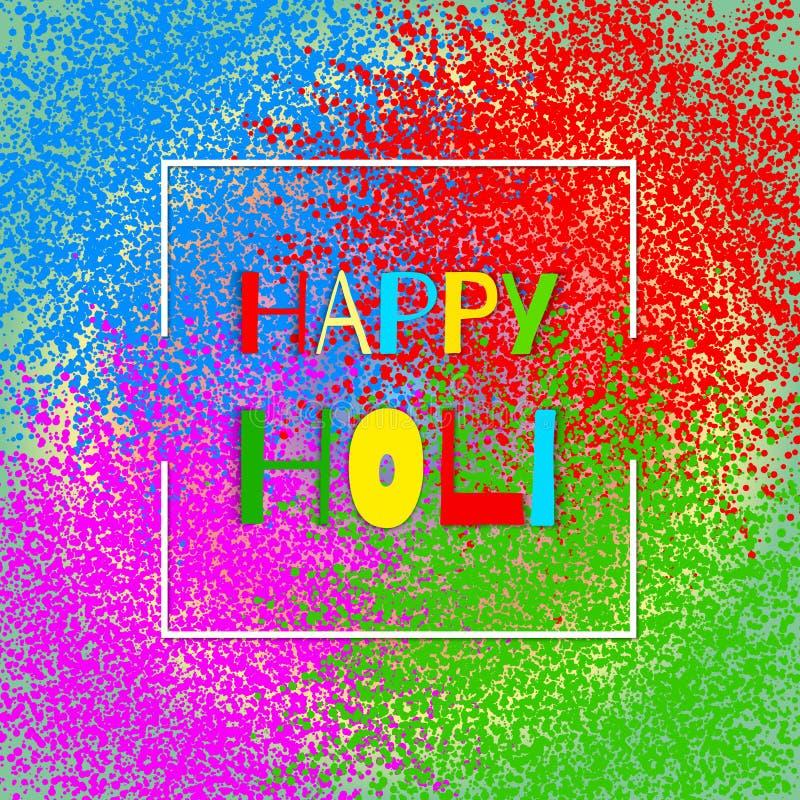 Explosión colorida para Holi feliz Ejemplo del fondo feliz colorido abstracto de Holi Festival indio de colores stock de ilustración