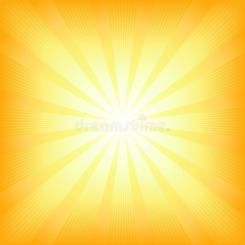 Explosión cuadrada de la luz del sol del verano ilustración del vector