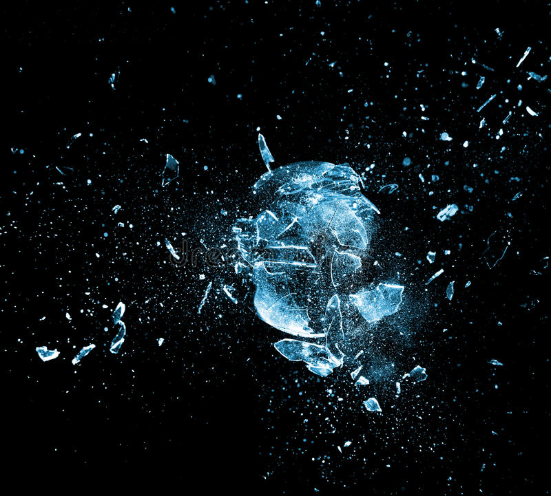 Explosión de cristal fotos de archivo