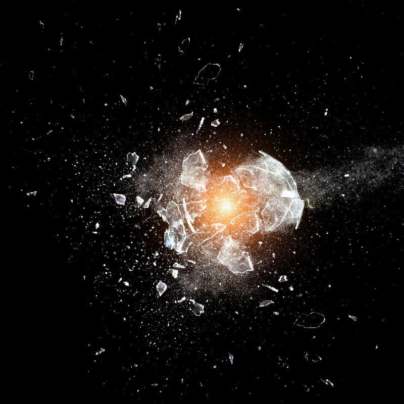 Explosión de cristal imagen de archivo
