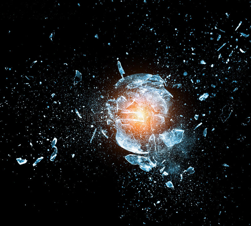 Explosión de cristal imagenes de archivo