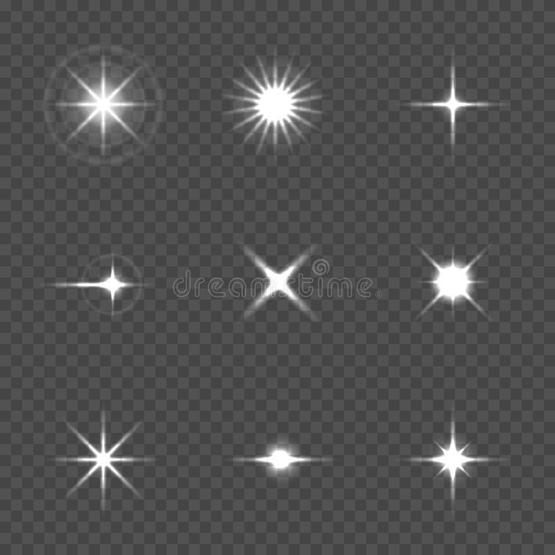 Explosión de la estrella con las chispas imagen de archivo libre de regalías