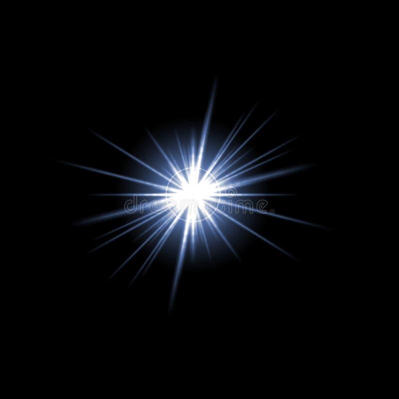 Explosión de la estrella de flama de la lente stock de ilustración