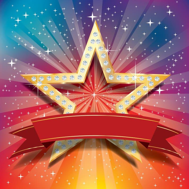 Explosión de la estrella de Dimond libre illustration