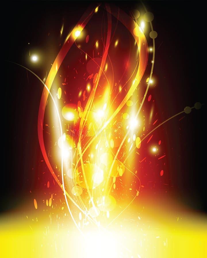 explosión de la llama ilustración del vector