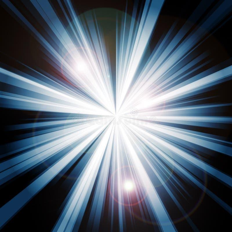 Explosión de la luz ilustración del vector
