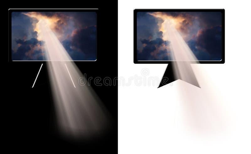 Explosión de la luz libre illustration