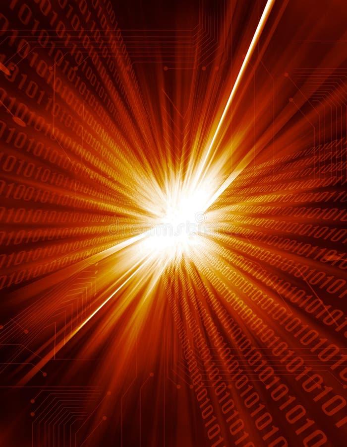 Explosión de la luz de Digitaces stock de ilustración