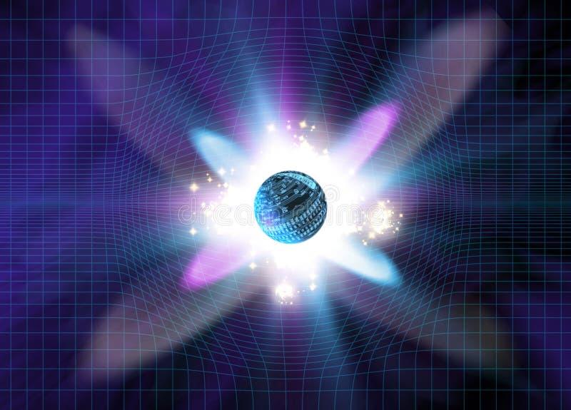 Explosión de la partícula ilustración del vector