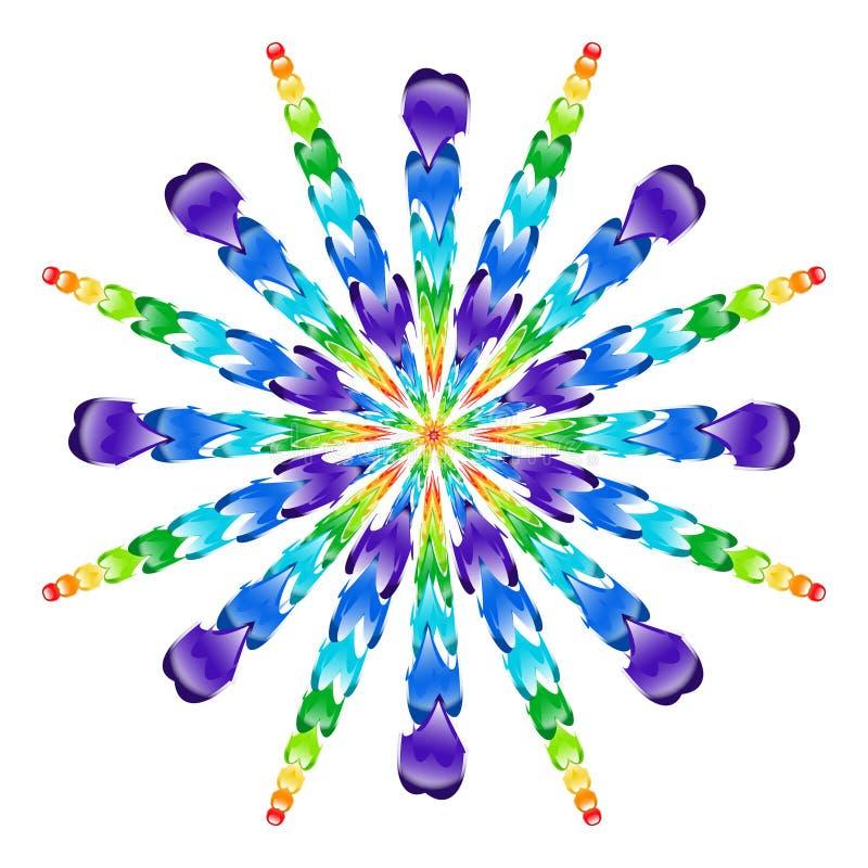 Explosión de las cuentas de cristal del arco iris foto de archivo libre de regalías