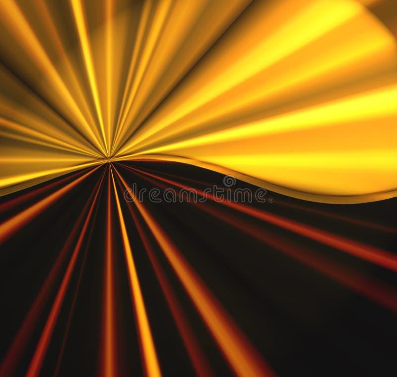 Explosión de oro stock de ilustración