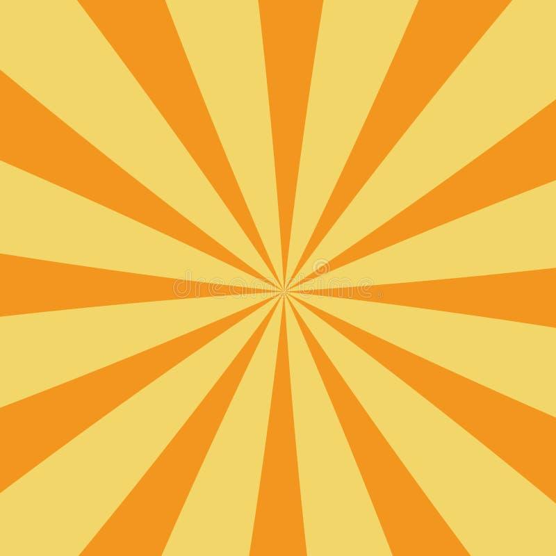 Explosión de Sun stock de ilustración