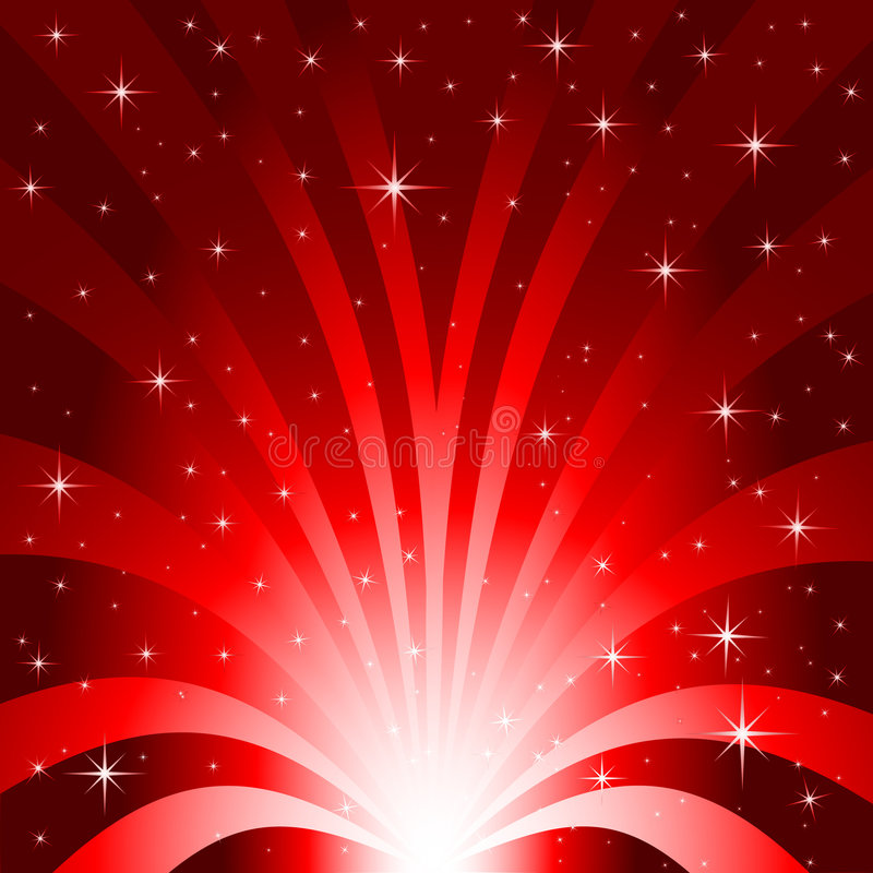 Explosión del campo de estrella ilustración del vector