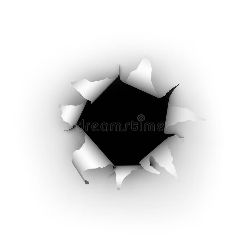 Explosión del papel ilustración del vector