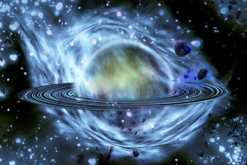 Explosión del planeta apocalypse Final del tiempo Ciencia ficción a libre illustration